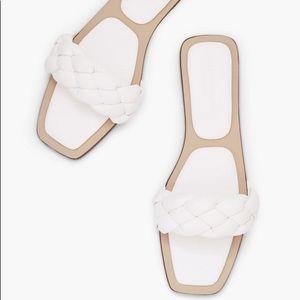 JustFab Kelly Rowland Braided Strap Sandals